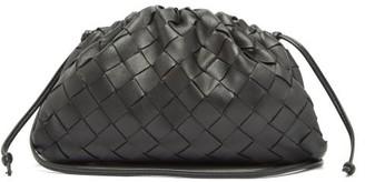 Bottega Veneta The Pouch Intrecciato Small Leather Clutch - Womens - Black