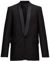 Balenciaga Straight-cut Shawl-lapel Wool-twill Tuxedo Jacket - Mens - Black