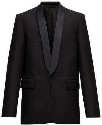 Balenciaga Straight-cut Shawl-lapel Wool-twill Tuxedo Jacket - Black