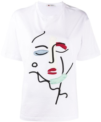 Ports 1961 abstract face T-shirt