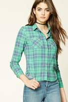 Forever 21 FOREVER 21+ Flannel Plaid Button-Down Shirt
