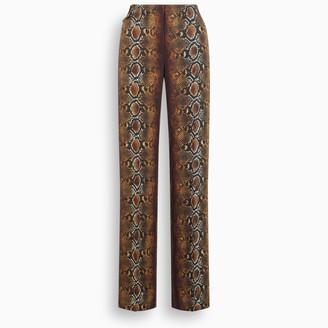 Versace Phyton print trousers