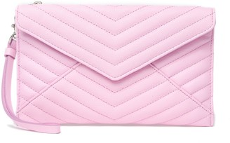 Rebecca Minkoff Leather Large Quilted Wristlet