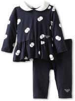 Armani Junior Polka Dot Dress and Legging Set (Infant) (Polka Dot) - Apparel