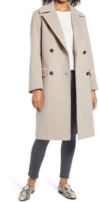 Fleurette Oversize Double Breasted Wool Blend Coat
