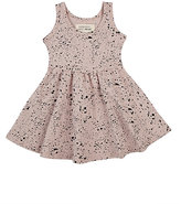 Little Indians Splatter-Print Stretch-Cotton Sleeveless Dress
