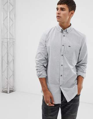 Lacoste slim fit check shirt in blue