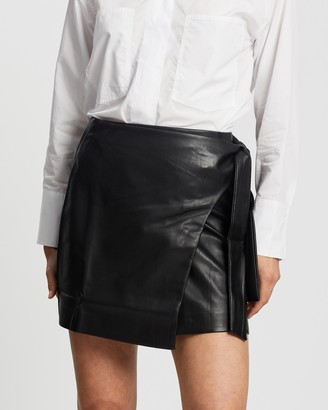 Mng Women's Black Leather skirts - Fire Skirt - Size XS at The Iconic
