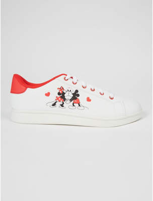Disney George Mouse White Trainers