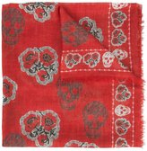 Alexander McQueen Poppy skull scarf - women - Silk - One Size