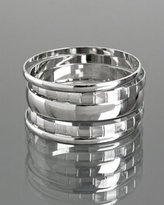 set of 5 - silver plated multiple bangles