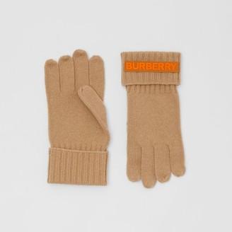 Burberry Kingdom and Logo Applique Cashmere Gloves