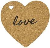 """Kate Aspen Heart"""" Cork Coasters, Set of 4"""