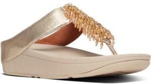 FitFlop Women's Velma Beaded Toe-Thongs Sandal Women's Shoes