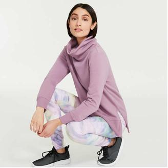 Joe Fresh Women's Fleece Turtleneck, Dark Mauve (Size XS)