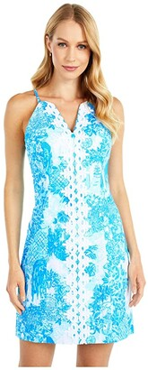 Lilly Pulitzer Pearl Stretch Shift Dress (Multi Toile Me About It) Women's Dress