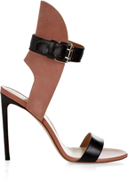 Francesco Russo Bi-colour leather and suede sandals