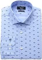 Original Penguin Men's Slim Fit Stretch Vw Print Dress Shirt