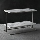 Crate & Barrel French Kitchen Marble 2-Tier Server