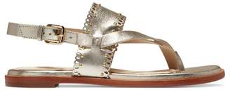Cole Haan Anica Scallop Metallic Leather Thong Sandals