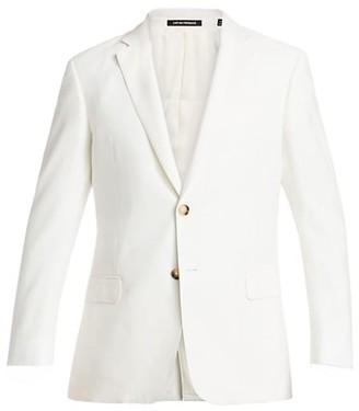 Emporio Armani Linen-Blend Two-Button Blazer