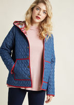 All Work and More Play Reversible Coat in Navy in S - Hoodie Jacket by ModCloth