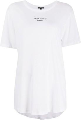 Ann Demeulemeester longline logo print T-shirt