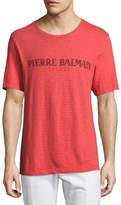 Pierre Balmain Vintage Logo Crewneck T-Shirt, Red