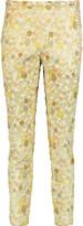 Rochas Metallic jacquard tapered pants