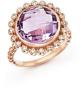 Bloomingdale's Rose Amethyst and Diamond Statement Ring in 14K Rose Gold - 100% Exclusive