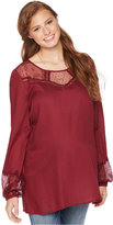 Wendy Bellissimo Maternity Lace-Trim Blouse