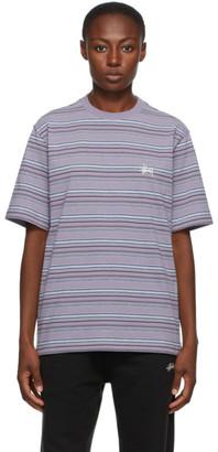 Stussy Purple Heather Stripe T-Shirt