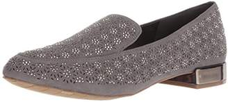 Kenneth Cole Reaction Women's Jet Time Slip On Loafer with Metallic Heel Flat