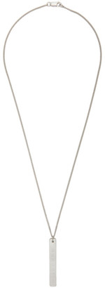 Maison Margiela Silver Pendant Necklace