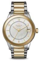 Shinola The Gail Mother-Of-Pearl & Two-Tone Stainless Steel Bracelet Watch