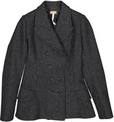 Alaia Anthracite Wool Coat for Women