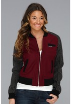 Members Only Studded Baseball Jacket Women's Jacket