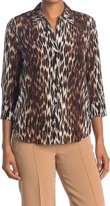 L'Agence Ryan Leopard Print Silk Shirt