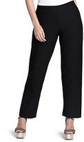 Eileen Fisher Plus System Stretch-Crepe Straight Pants
