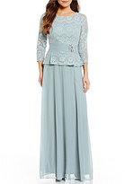 Cachet 3/4 Sleeve Lace Bodice Gown
