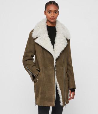 AllSaints Zeta Shearling Coat
