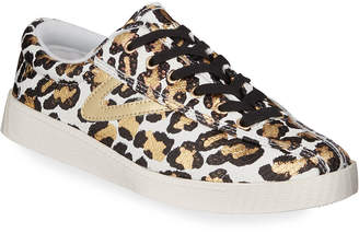 Tretorn Nylite 34 Plus Metallic Animal-Print Sneakers