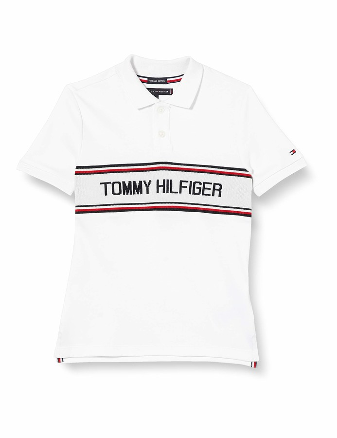 Tommy Hilfiger Boys Sleeve Text Polo S//S Shirt