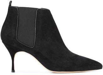 Manolo Blahnik stiletto ankle boots