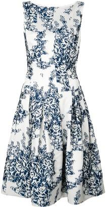 Oscar de la Renta floral print dress