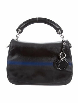 Christian Dior Medium Be Flap Bag Black