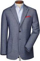 Charles Tyrwhitt Classic Fit Navy and White Semi-Plain Cotton Jacket Size 42 Regular