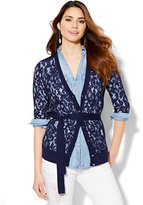 New York & Co. Lace-Front Cardigan