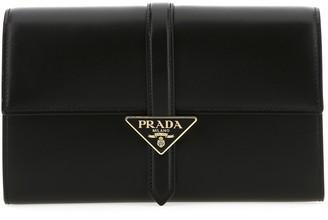 Prada Logo Front Flap Clutch Bag