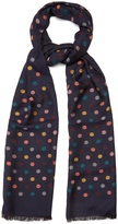 Paul Smith Polka dot-jacquard scarf